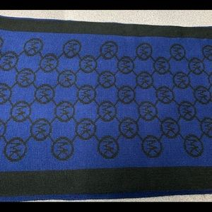 MK scarf black and blue new